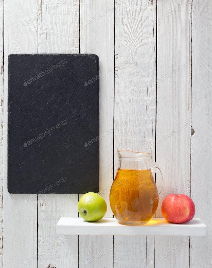 apple juice at shelf