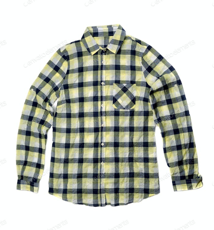 Yellow checkered shirt.