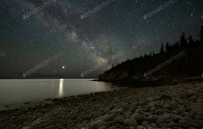 The Milky Way over Acadia National Park Maine