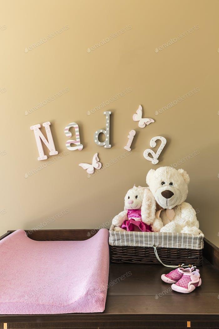 Kommode mit Teddybären