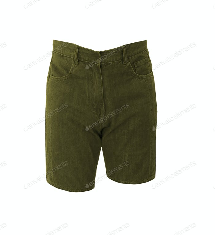 Male jeans shorts isolated