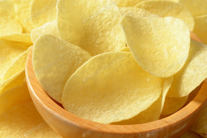 Salted potato crisps