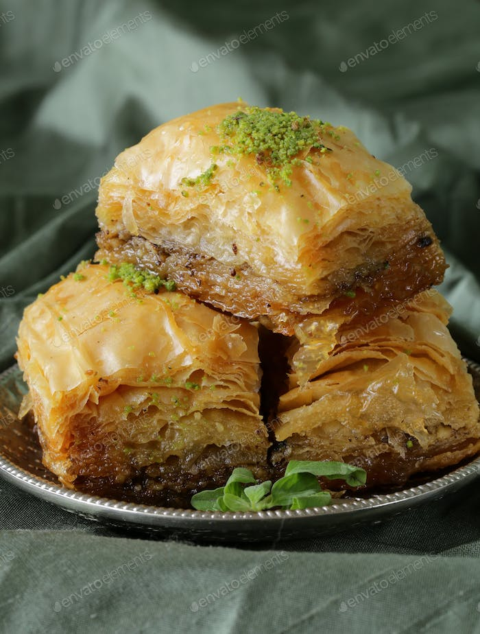 Turkish Arabic Dessert Baklava