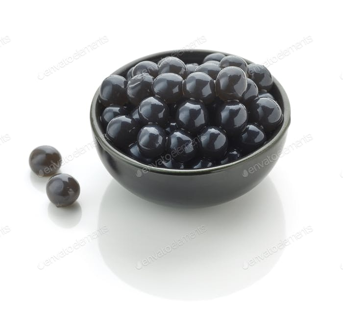 schwarze Tapioka-Perlen für Bubble Tee