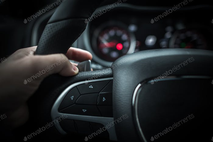 Car Driving with Paddle Shifter