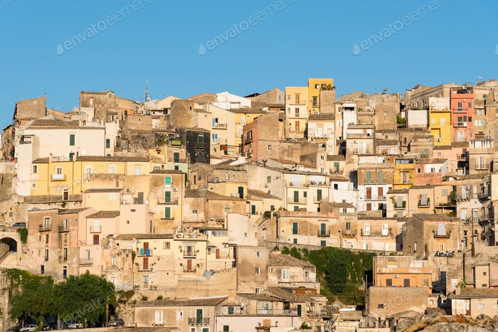 Ragusa Ibla in the last evening light