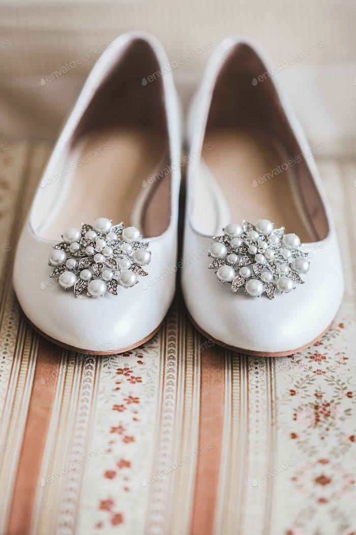 Bride Shoes Close-up