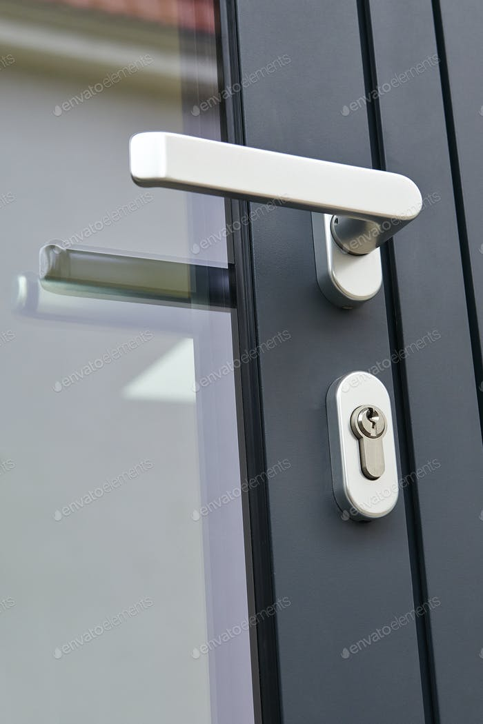 Exterior door handle and Security lock