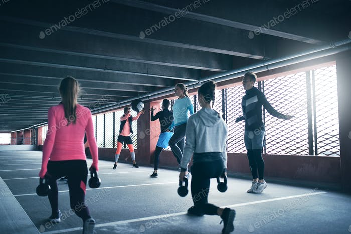 Group of people working out