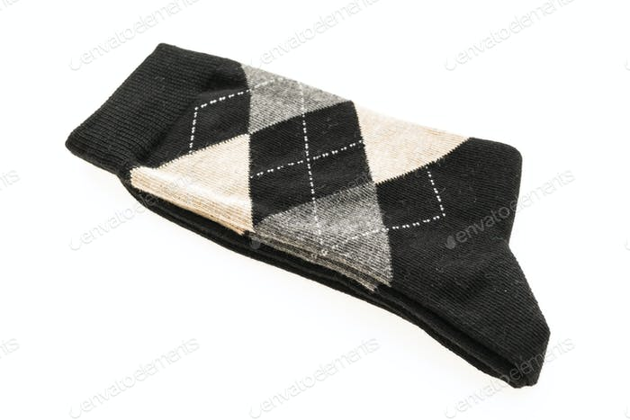 Pair of sock isolated