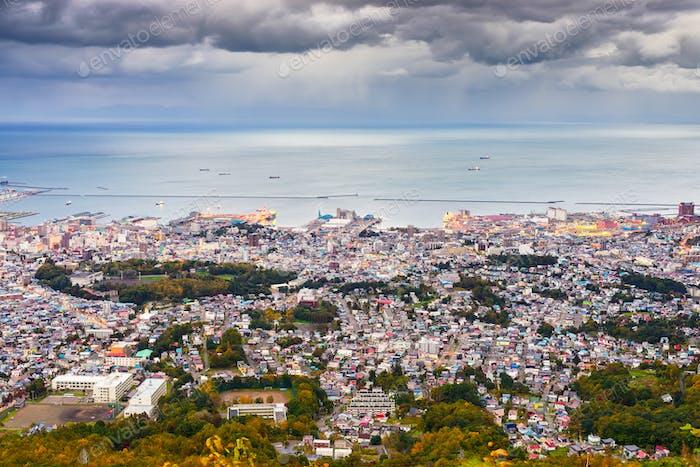 Otaru, Hokkaido, Japan Town Skyline