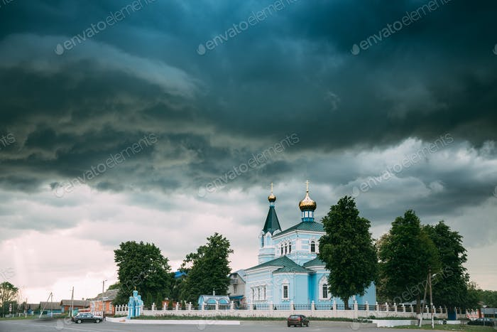 Weißrussland. St. John Das Korma Kloster Kirche In Korma Dorf, Dob