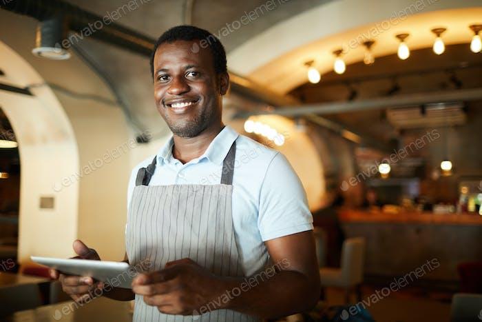 Waiter in restaurant