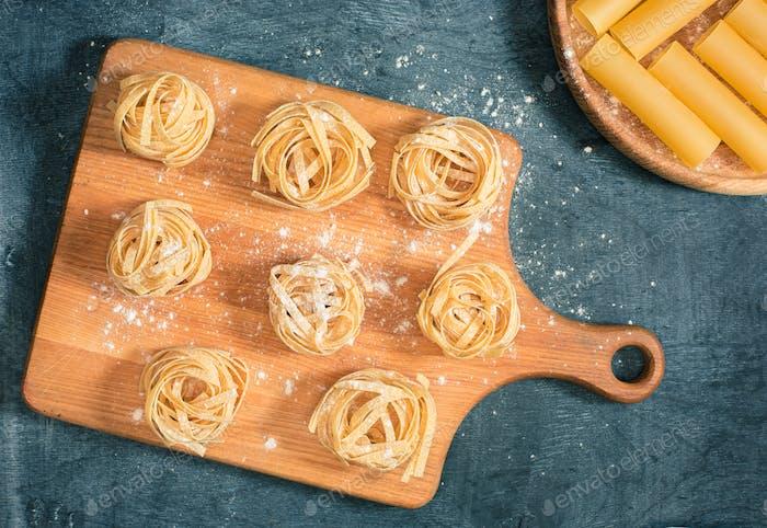 Die trockene italienische Pasta