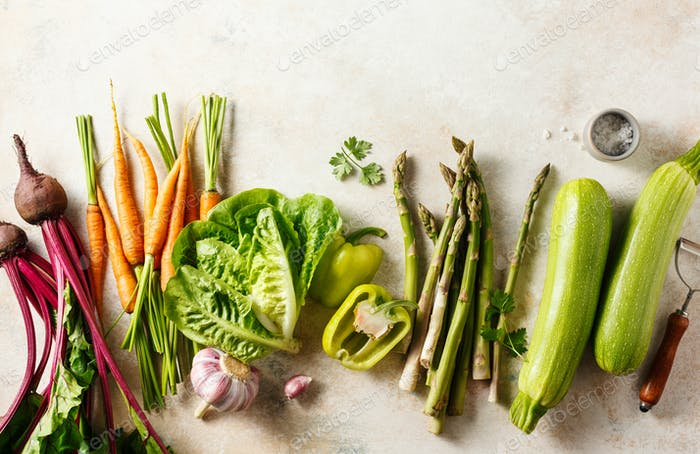 Fresh organic seasonal vegetables