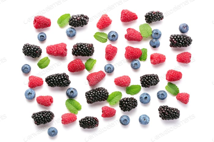 various berry fruits