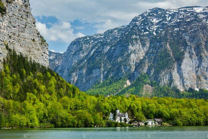 Schloss am Hallstatter See in Österreich