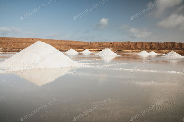 Pile of salt drying in the air - Sal Island, Cape Verde
