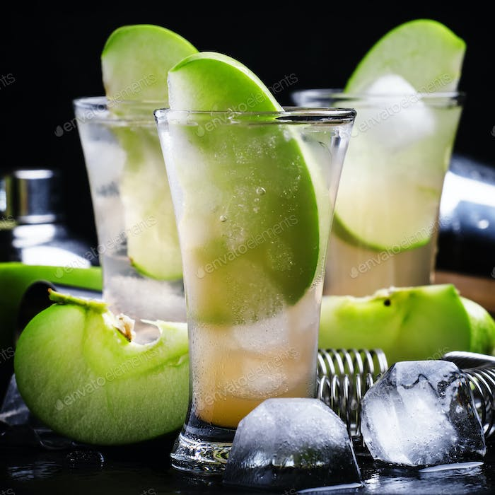 Cocktail with green apple