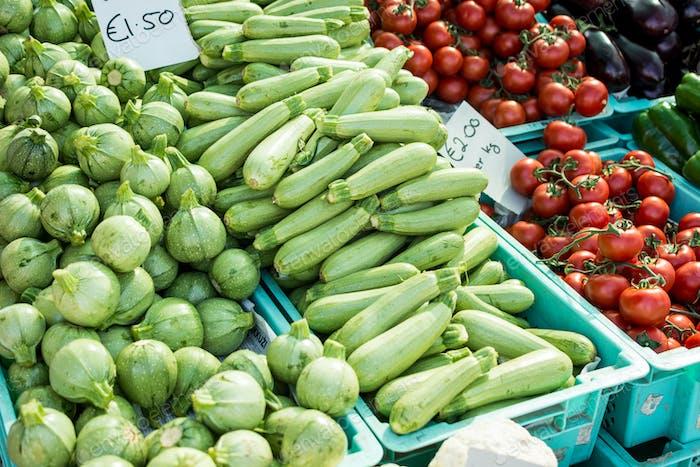 Summer squash at a local farmers market