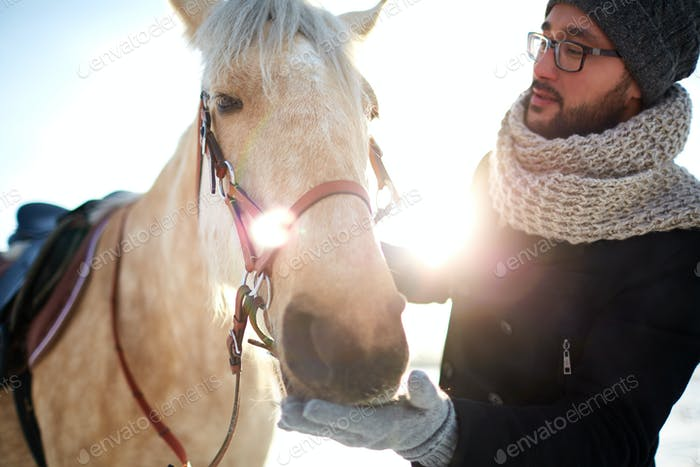 Guy and horse