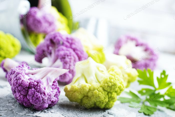 color cauliflowers