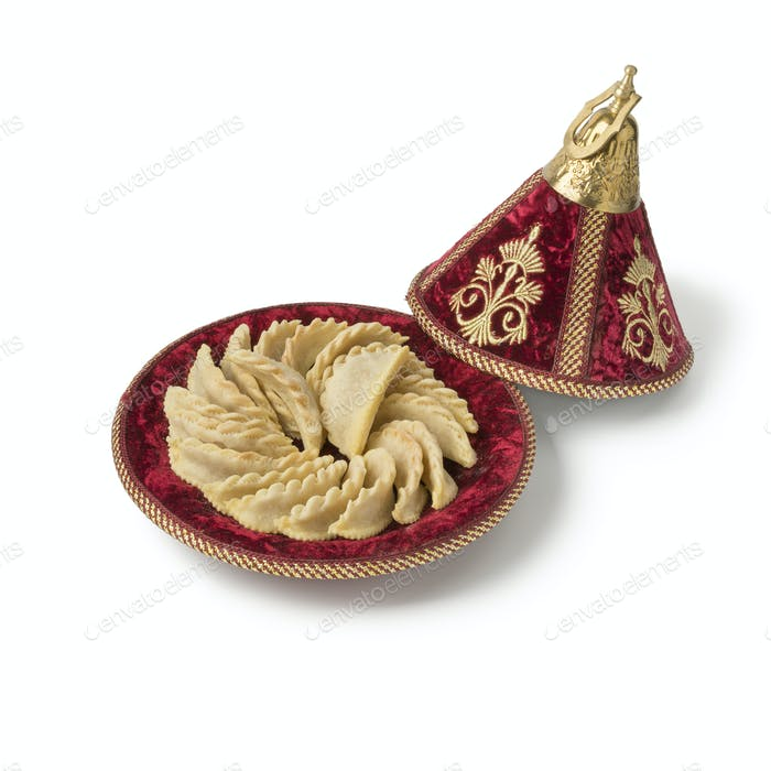 Traditional festive Gazelle Horns cookies