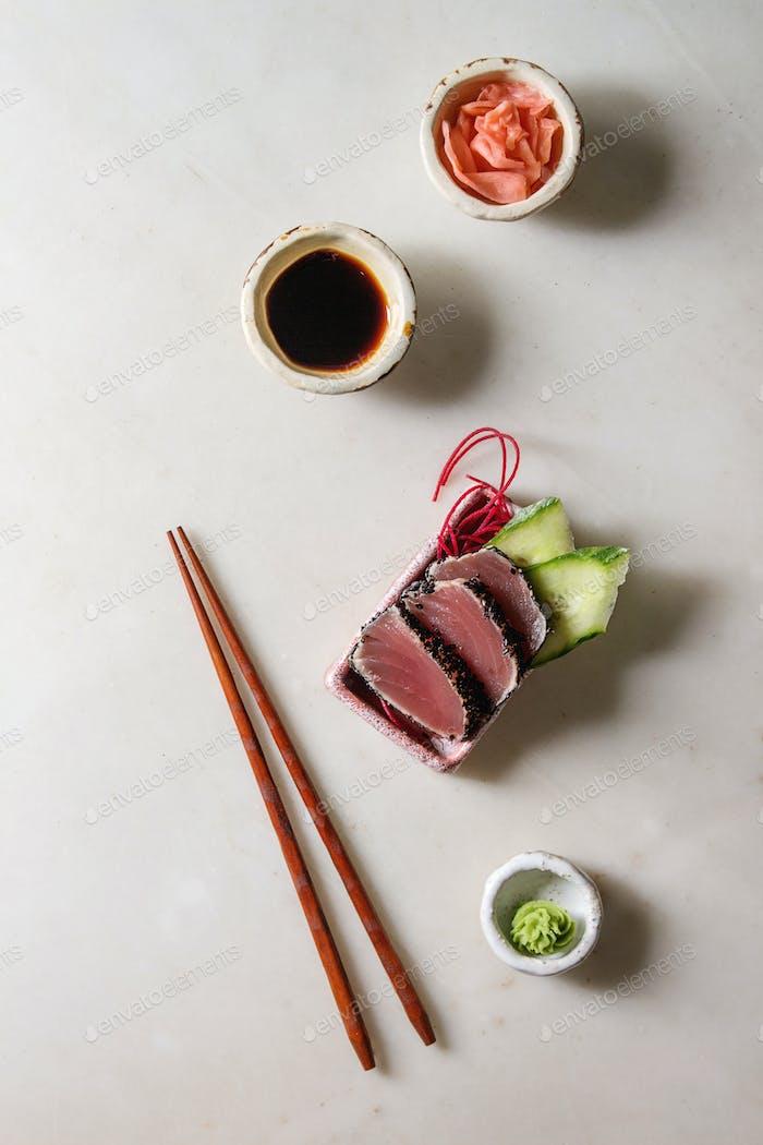Thunfisch Sushi Sashimi