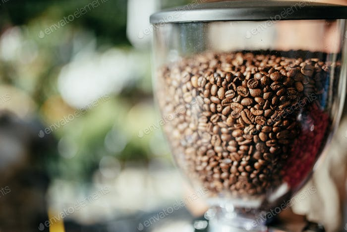 fragrant grain coffee machine outdoors