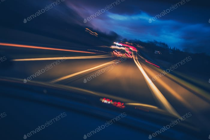 Highway Driving Motion Blur