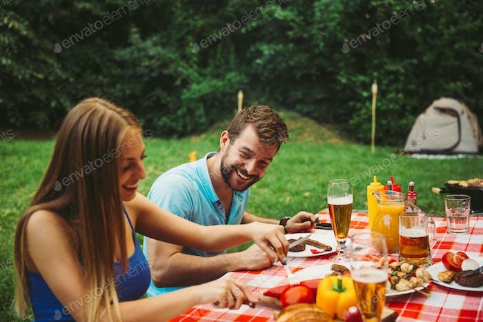 Enjoying food together
