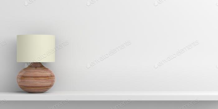 Table lamp on white background. 3d illustration
