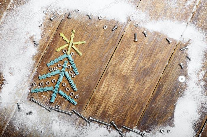 Wall plug Christmas backround