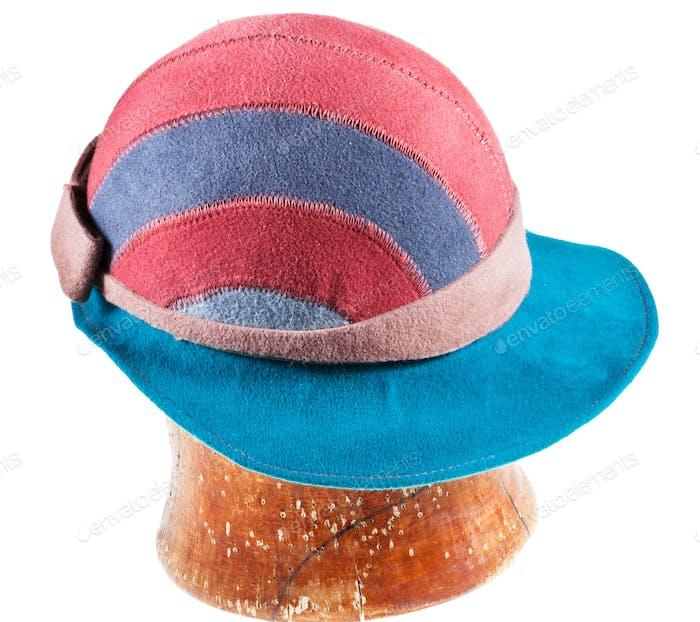 felt soft hat with wide cap peak