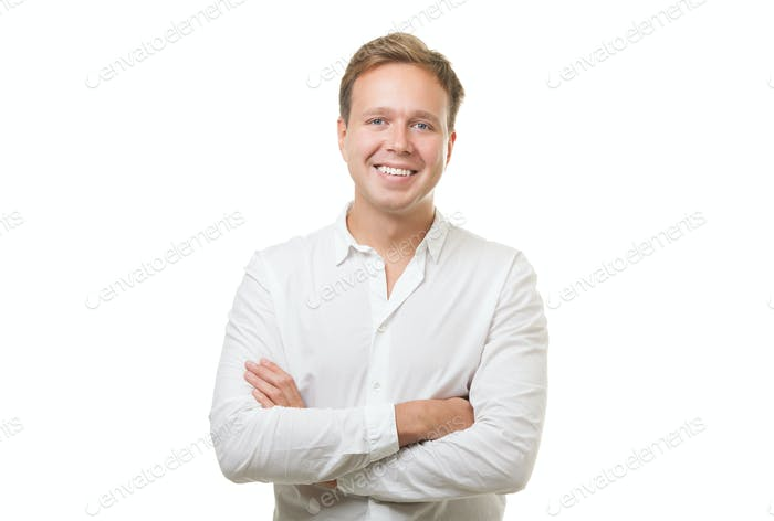 Smiling Man with Folded Arms