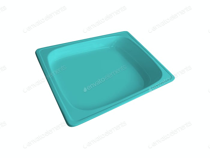 plastic trough isolated