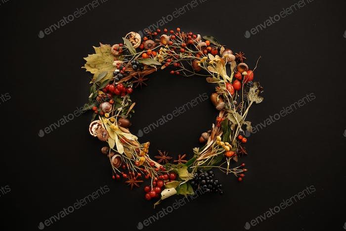 Autumn Wreath Flat Lay
