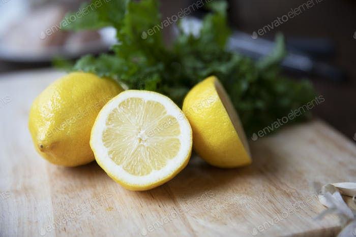 Cut and Whole Lemons