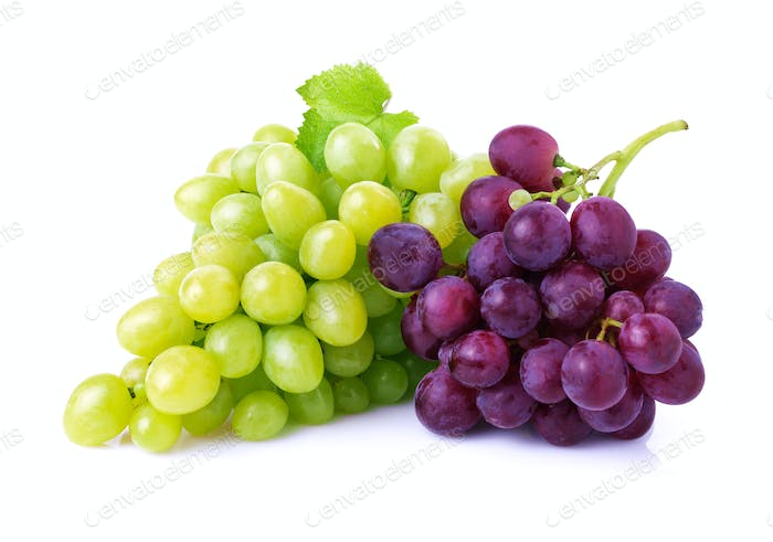Grapes isolated on white.
