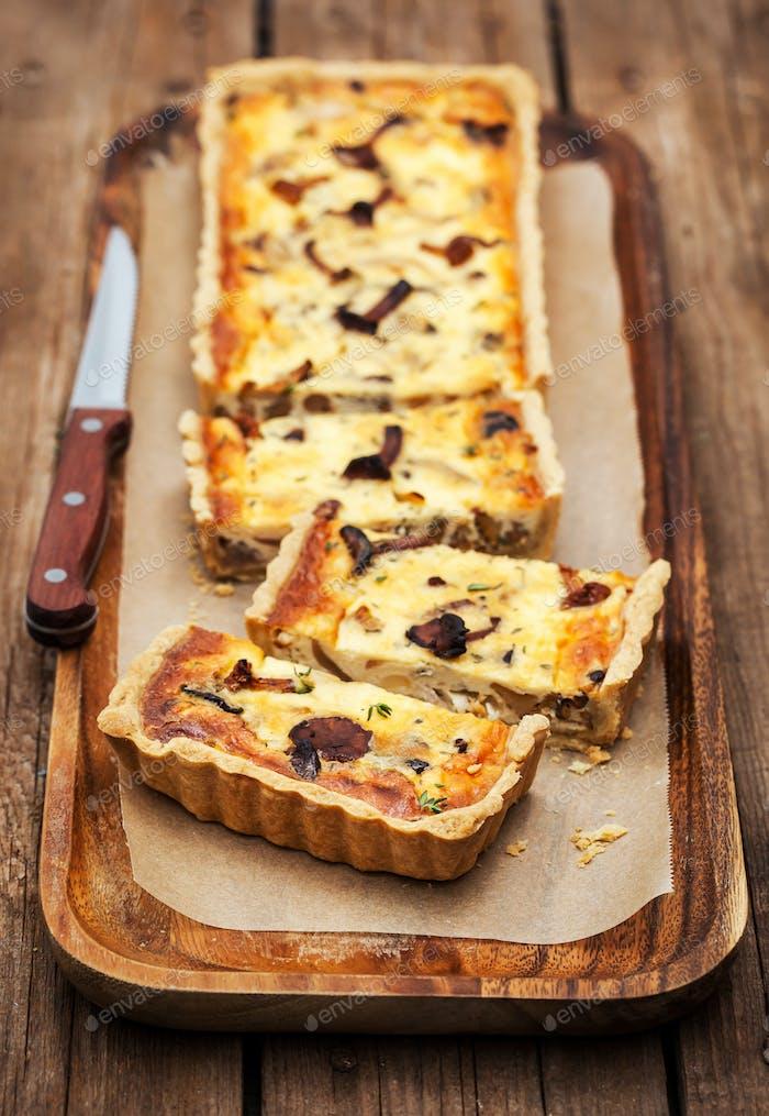 Chanterelle mushroom delicious tart