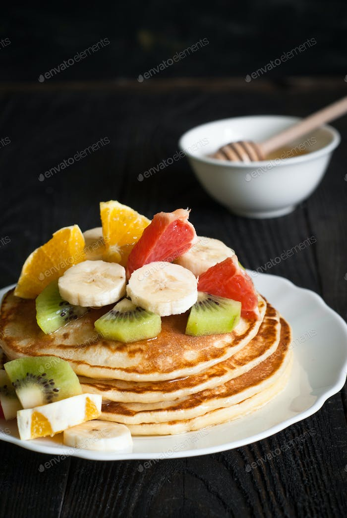 Plate of pancakes