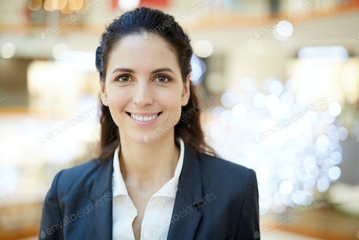 Bonita mujer de negocios