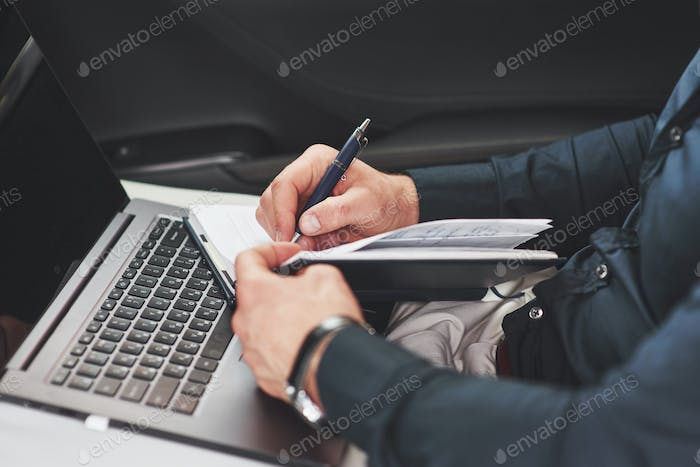 Business Hand Writing Notes car seat