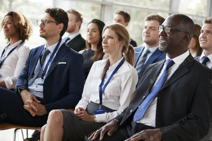 Audience watching a business conference