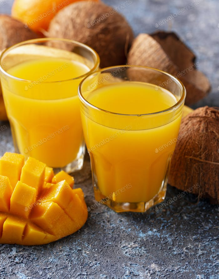 Fresh tropical mix fruit juice