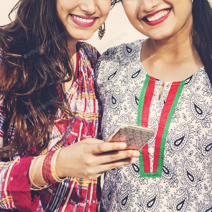 Indian Ethnicity Sister Girl Relationship Together Concept