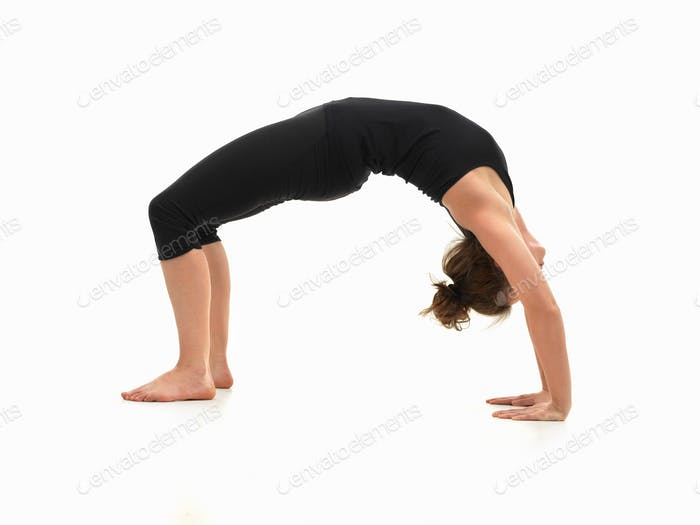 woman demonstrating yoga pose