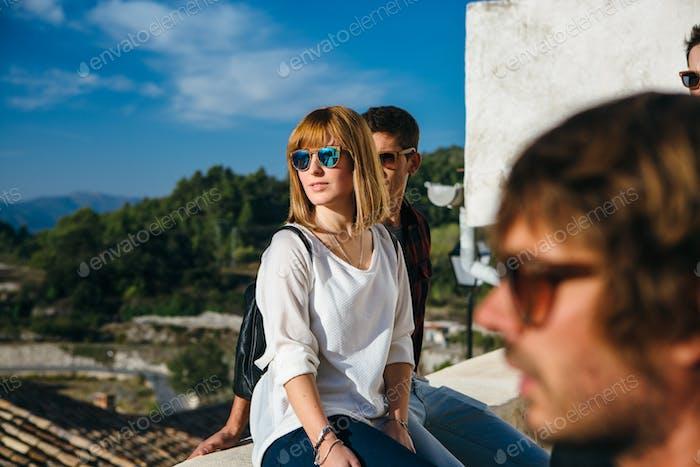 People posing in sunglasses