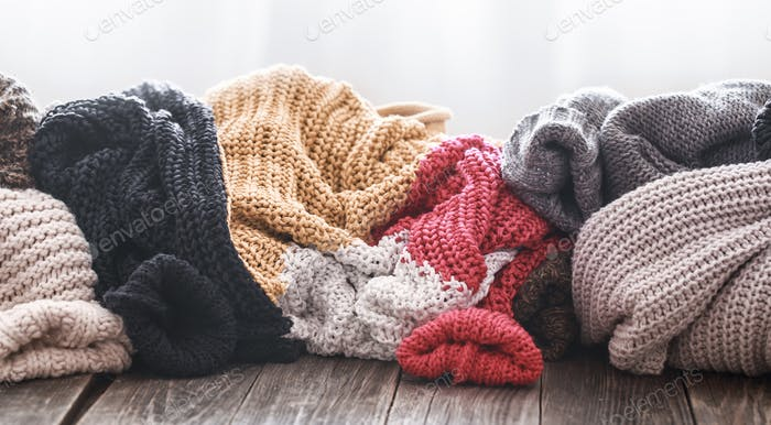 Cozy knitted sweaters.