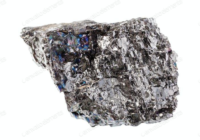 unpolished Bituminous coal (black coal) rock